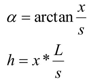 angular formula